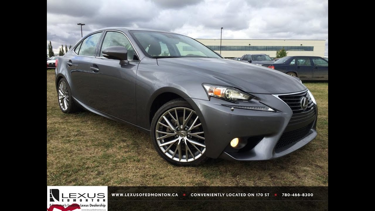 Lexus certified pre owned grey 2014 is 250 sport awd luxury with navigation review airdrie alberta