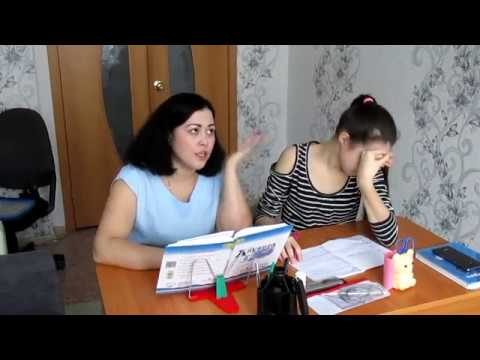 Мать делает уроки с дочкой видео