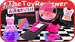Barbie Airbrush Designer Unboxing Toy Review by TheToyReviewer