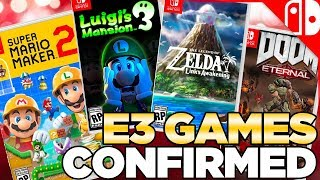 Nintendo Games Confirmed for E3 2019