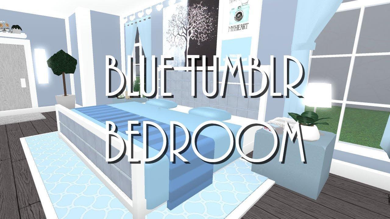 Roblox Welcome To Bloxburg Blue Tumblr Bedroom