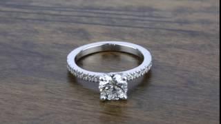 1 Carat Diamond Ring with Platinum Pave Setting