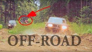 На мотоциклах и внедорожниках  по бездорожью! Riding  SUV and bike off-road