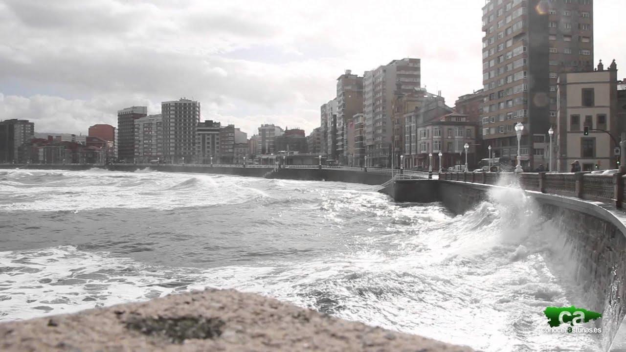 Temporal de mar en gij n xix n asturias en alerta roja - Fotos del sporting de gijon ...