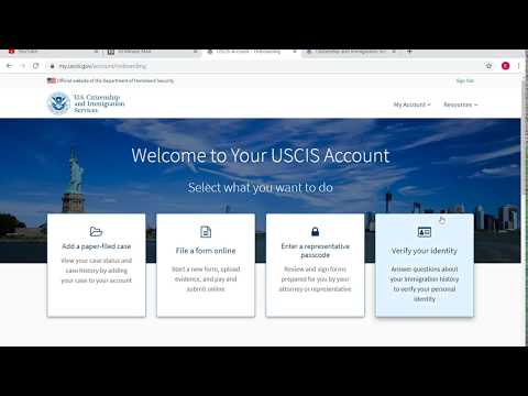 How To Create An USCIS Online Account