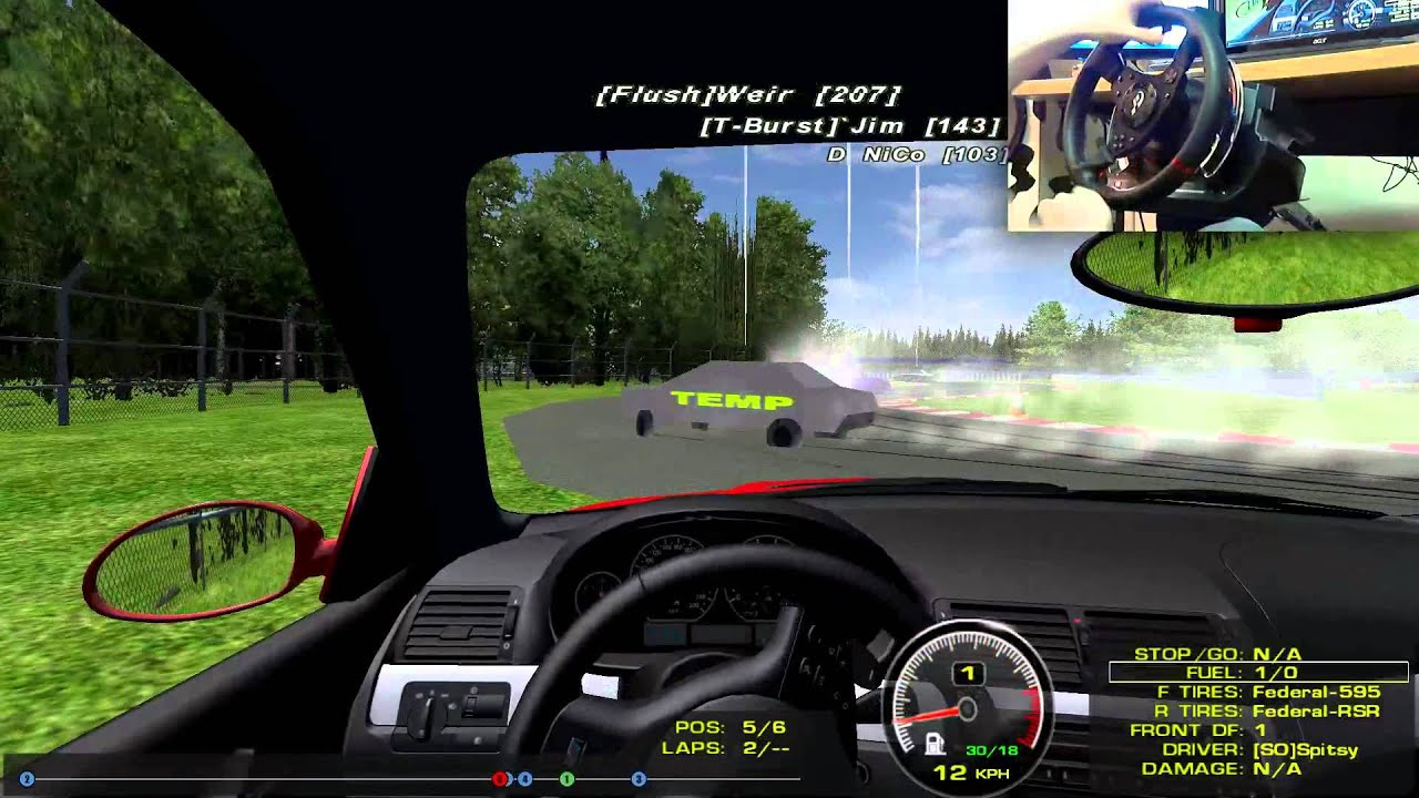 rFactor: Thrustmaster T500RS Drifting Livestream (Onboard)