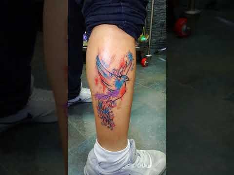 Gino S Tattoo Studio.. Phoenix Watercolor