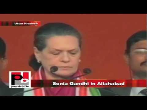 Sonia Gandhi in Allahabad, Uttar Pradesh, 8th February 2012, Part-1