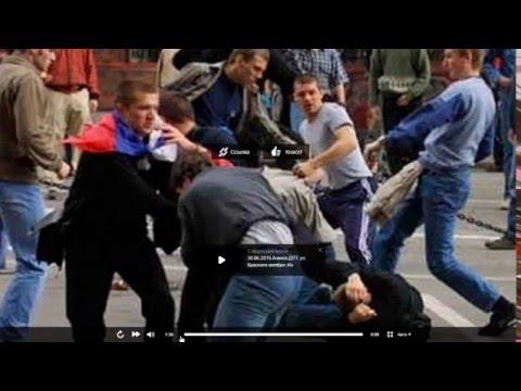 Армяне наказали подлых азербайджанцев которые организовали драку против Армянина в Львове УШУ 2016