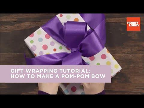 Gift Wrapping Tutorial: How to Make a Pom-Pom Bow | Hobby Lobby®