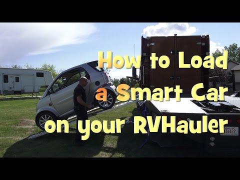 How to Load a Smart Car onto an RVHauler a Training Video