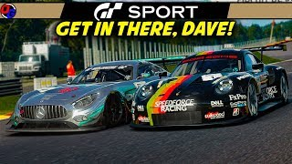GET IN THERE, DAVE! | Gran Turismo Sport | Mercedes AMG GT3 @ Spa | Let's Play GT Sport