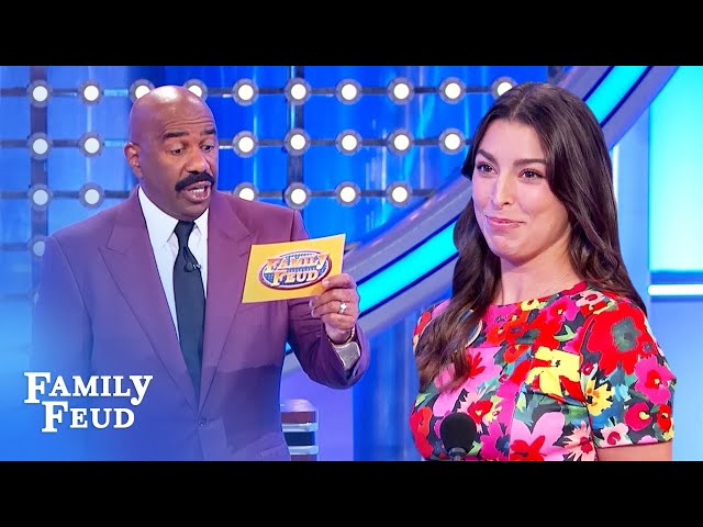 Steve Harvey loves coming home to this! | Family Feud
