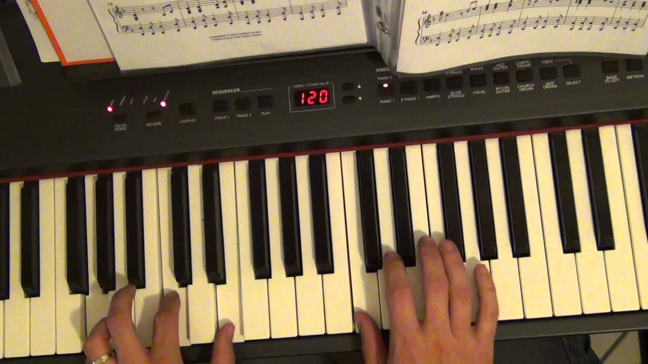 Christmas song Canzoni di Natale -Deck the halls - piano tutorial - YouTube