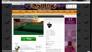 Halloween ROBLOX Game 2010
