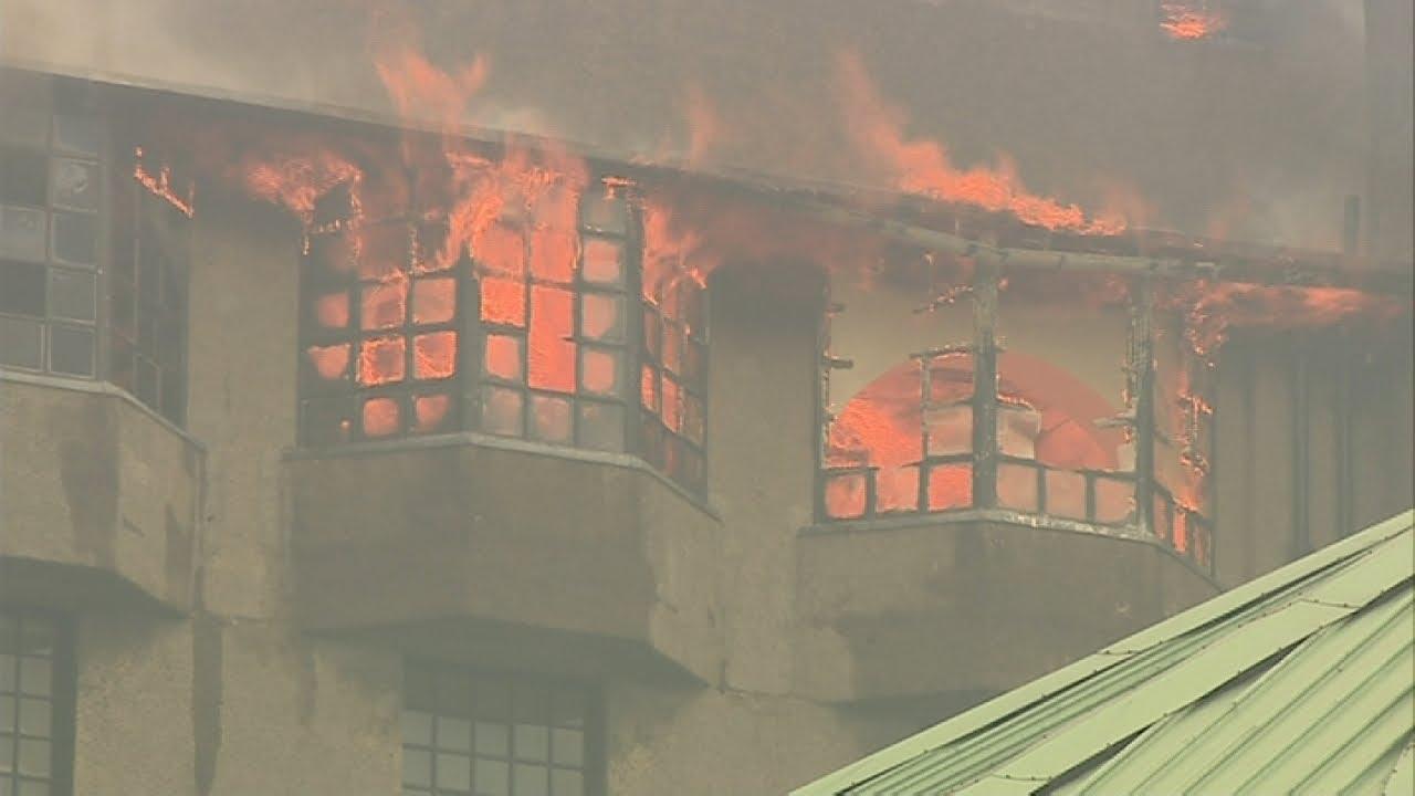 Fire at Glasgow School of Art
