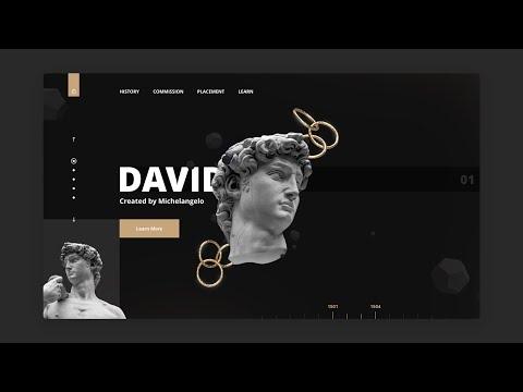 Adobe XD Modern Web Design - Speed Art thumbnail