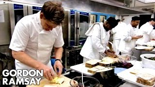 Gordon Ramsay Helps Prepare His Lunch Menu With His Prison Brigade | Gordon Behind Bars