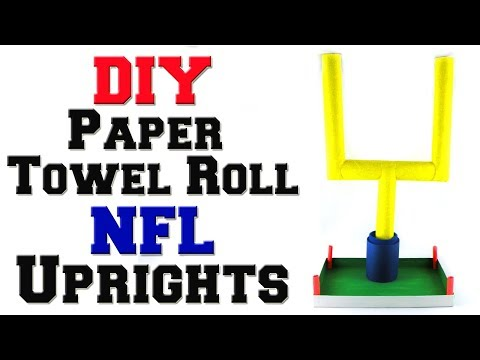 DIY Paper Towel Roll NFL Uprights