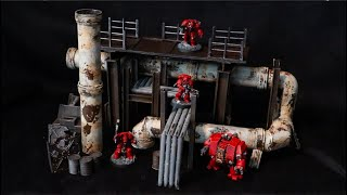 40k Terrain - Pipelines and Conduits - Scratch Built Industrial Tutorial - Necromunda, Kill Team