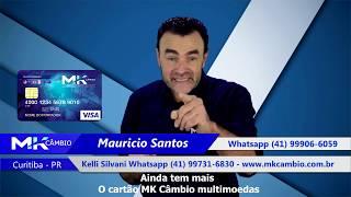 Cartão pré-pago MK Câmbio multimoedas internacional - Casa de câmbio em Curitiba PR #cartãoprepago