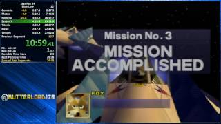 Star Fox 64 Blue Line Speedrun - 26:24