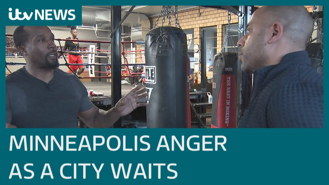 Anger in Minneapolis as city awaits George Floyd verdict | ITV News