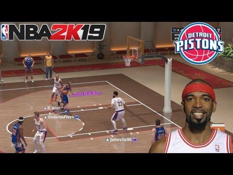 Triple Amenaza #14 NBA 2K19 - Detroit Pistons Clásicos || En Español