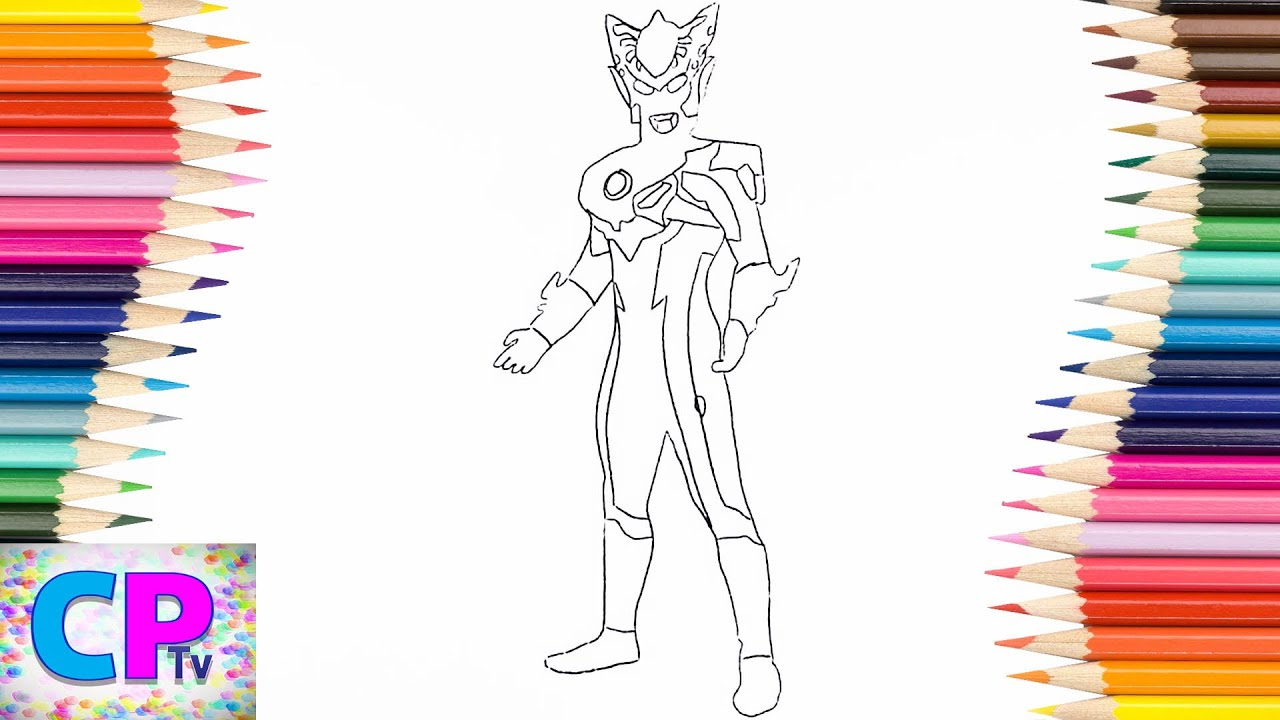 Ultraman Rosso Coloring Pages For Kids How To Color Fun