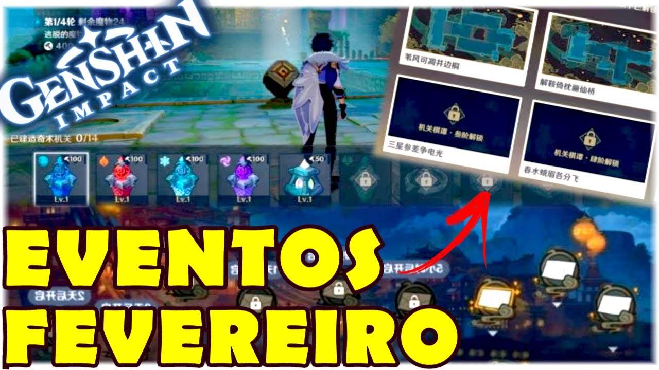 VAZOU EVENTOS TOWER DEFENSE E ANO NOVO CHINÊS - GENSHIN IMPACT