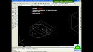 Cách vẽ hình trụ trong CAD 3D - Lệnh Cylinder