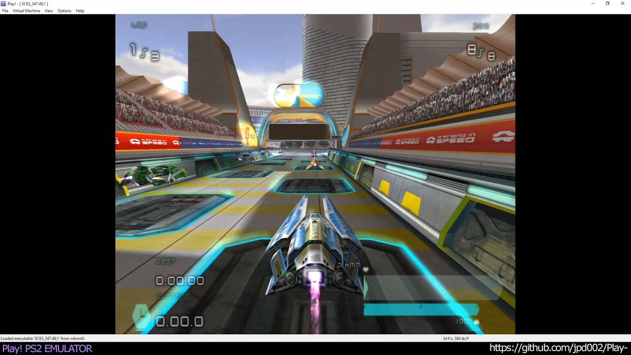 Play! PS2 Win / OSX / iOS /Android Emulator - Wipeout Pulse Ingame  (20170123)