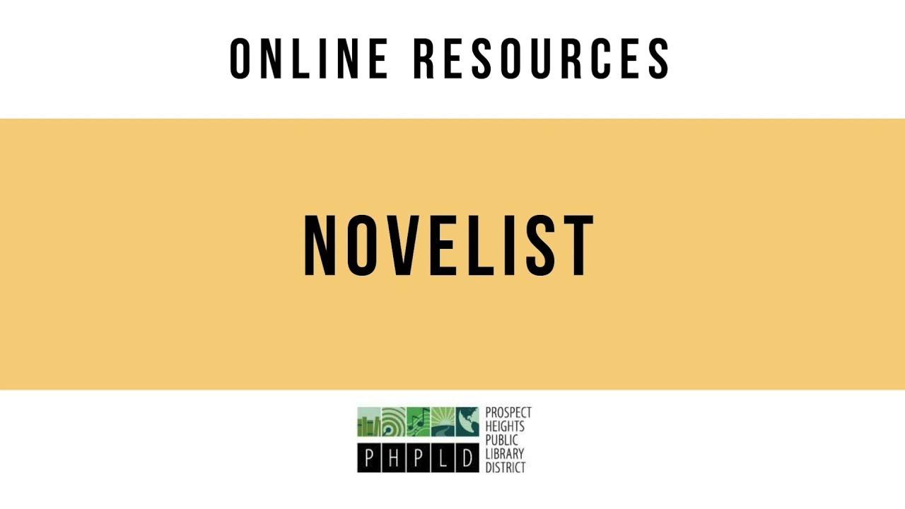 Online Resources: Novelist