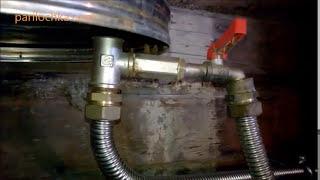 печь в баню с теплообменником и выносным баком для воды (схема и пример)