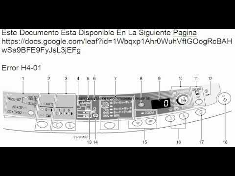 solucion error h4 sharp 1645 1645cs y otras youtube rh youtube com Sharp Al 1631 Manual PDF Sharp Al 1631 Manual PDF
