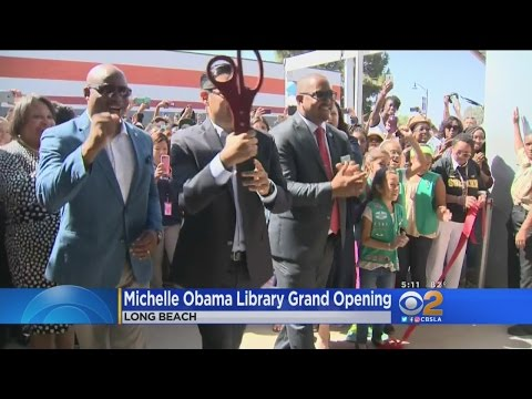 Library Named For First Lady Michelle Obama Opens In Long Beach