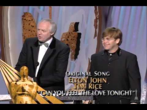 Elton John and Tim Rice Win Original Song: 1995 Oscars