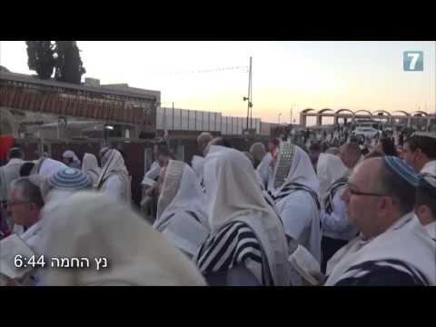 Sunrise prayers at the Western Wall, Jerusalem