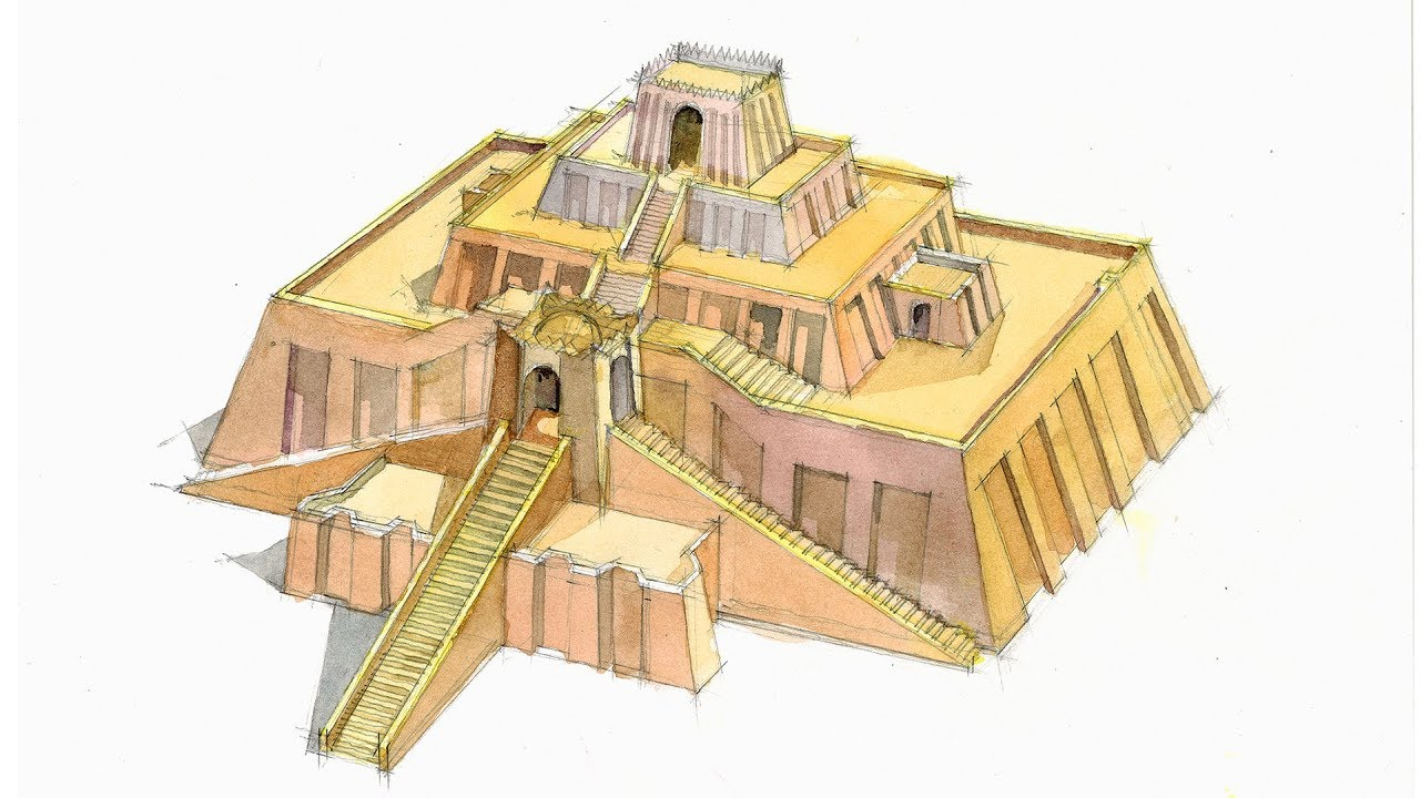 ziggurat of ur sketch 35724 loadtve