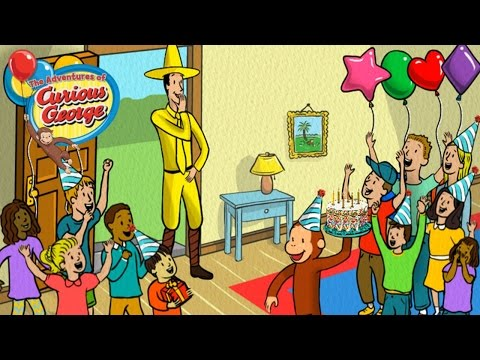♡ Curious George Birthday Surprise Educational Game For Toddlers & Kids