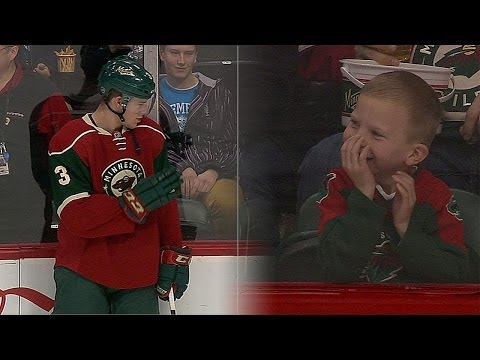 Priceless: Wild's Coyle Makes Young Fan's Day