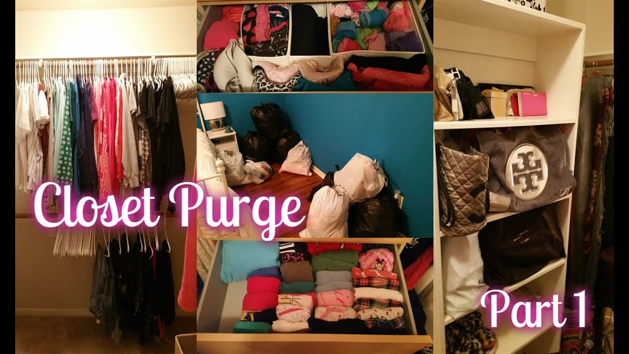 spring cleaning | purging & organizing my walk-in closet (4.9.2015