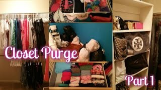 Spring Cleaning | Purging & Organizing My Walk-in Closet (4.9.2015 - Day 126)