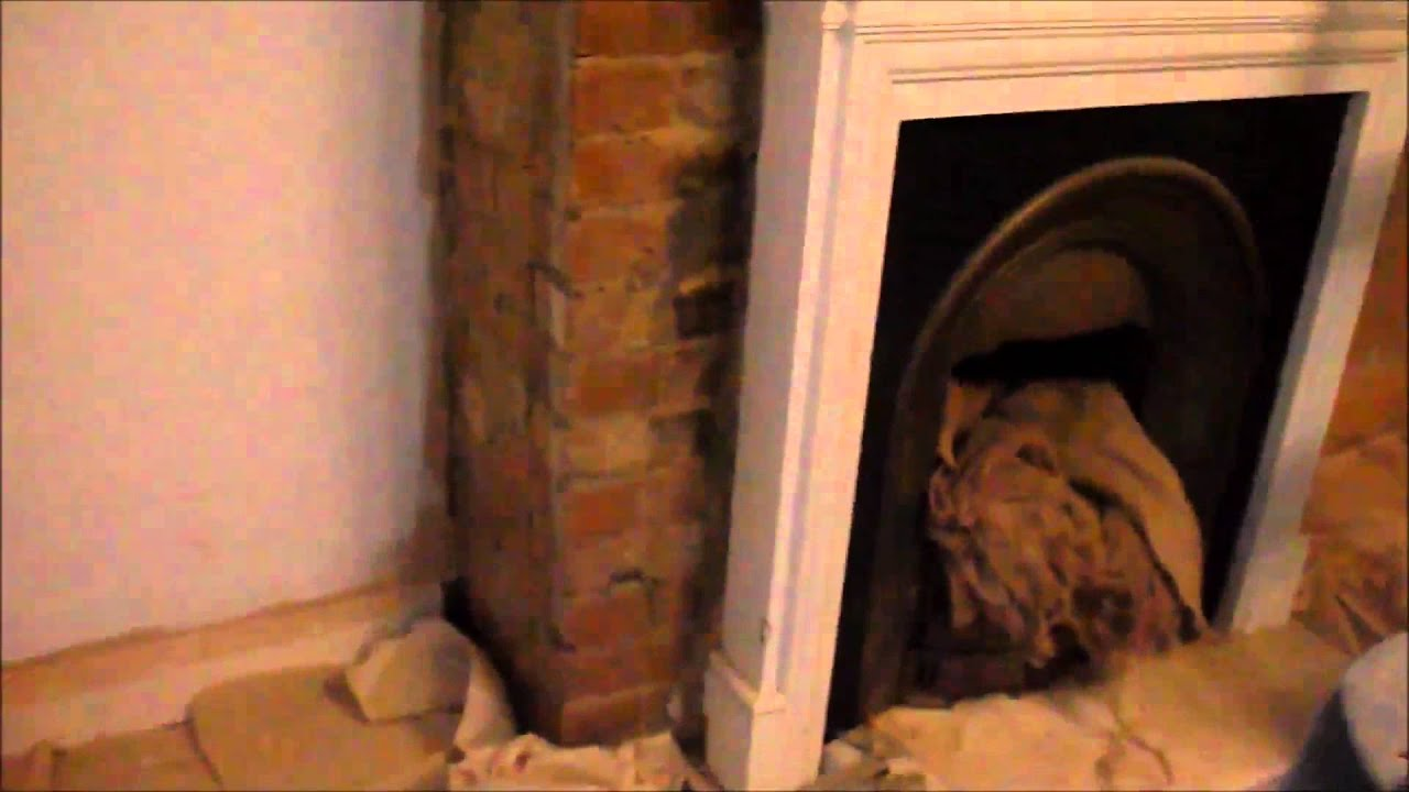 Exposed brick fireplace repointed using lime putty - YouTube
