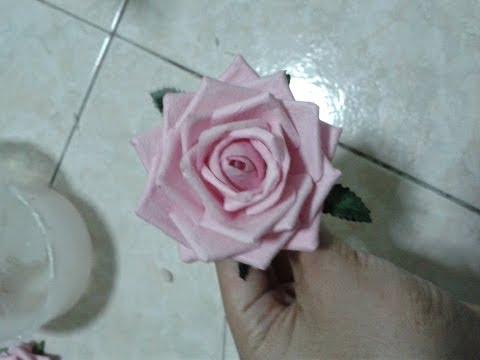 วิธีทำดอกกุหลาบ:How to make a rose