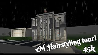 Roblox Bloxburg | xM Hairstyling tour! (Hairdresser build) | 45k