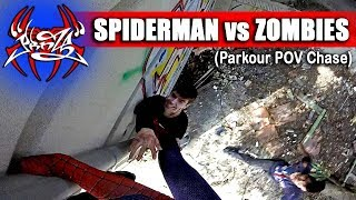 ¡SPIDERMAN PARKOUR VS ZOMBIES!
