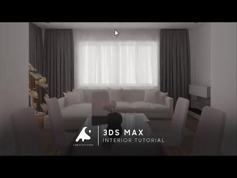 3D Max Interior Modeling Tutorial Vray Render