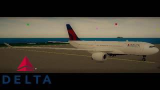 Roblox SFS Flight Simulator | Delta Airlines A330 flight timelapse.