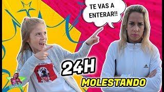 24 HORAS MOLESTANDO A MI MADRE 😅 MANERAS DE MOLESTAR A TU MAMÁ! SE ENFADA 😱